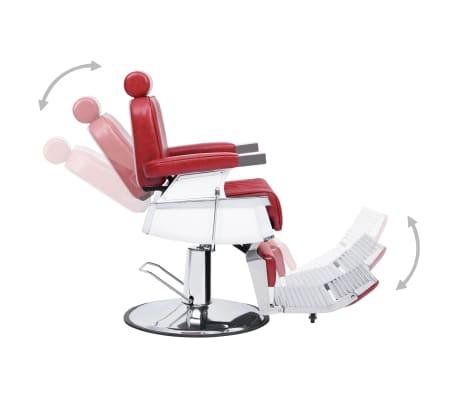 vidaXL Kirpėjo kėdė, raudona, 68x69x116 cm, dirbtinė oda[4/10]