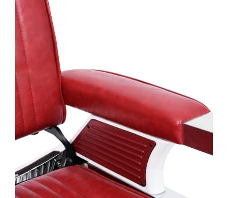 vidaXL Kirpėjo kėdė, raudona, 68x69x116 cm, dirbtinė oda[5/10]