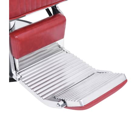 vidaXL Scaun de frizer, roșu, 68 x 69 x 116 cm, piele ecologică[6/10]