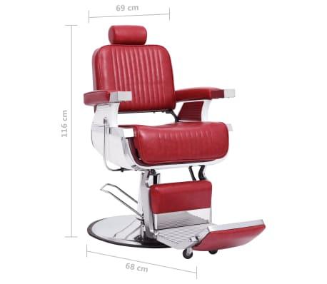 vidaXL Scaun de frizer, roșu, 68 x 69 x 116 cm, piele ecologică[7/10]