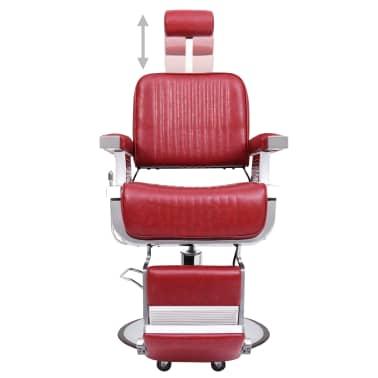 vidaXL Scaun de frizer, roșu, 68 x 69 x 116 cm, piele ecologică[2/10]