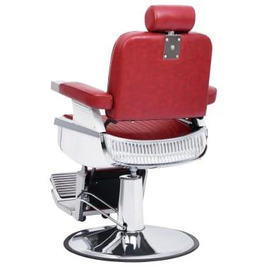 vidaXL Kirpėjo kėdė, raudona, 68x69x116 cm, dirbtinė oda[3/10]