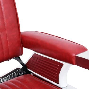 vidaXL Scaun de frizer, roșu, 68 x 69 x 116 cm, piele ecologică[5/10]