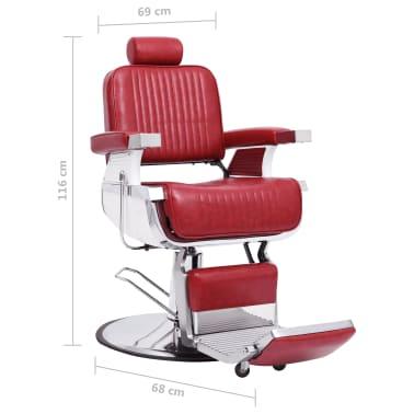 vidaXL Kirpėjo kėdė, raudona, 68x69x116 cm, dirbtinė oda[7/10]