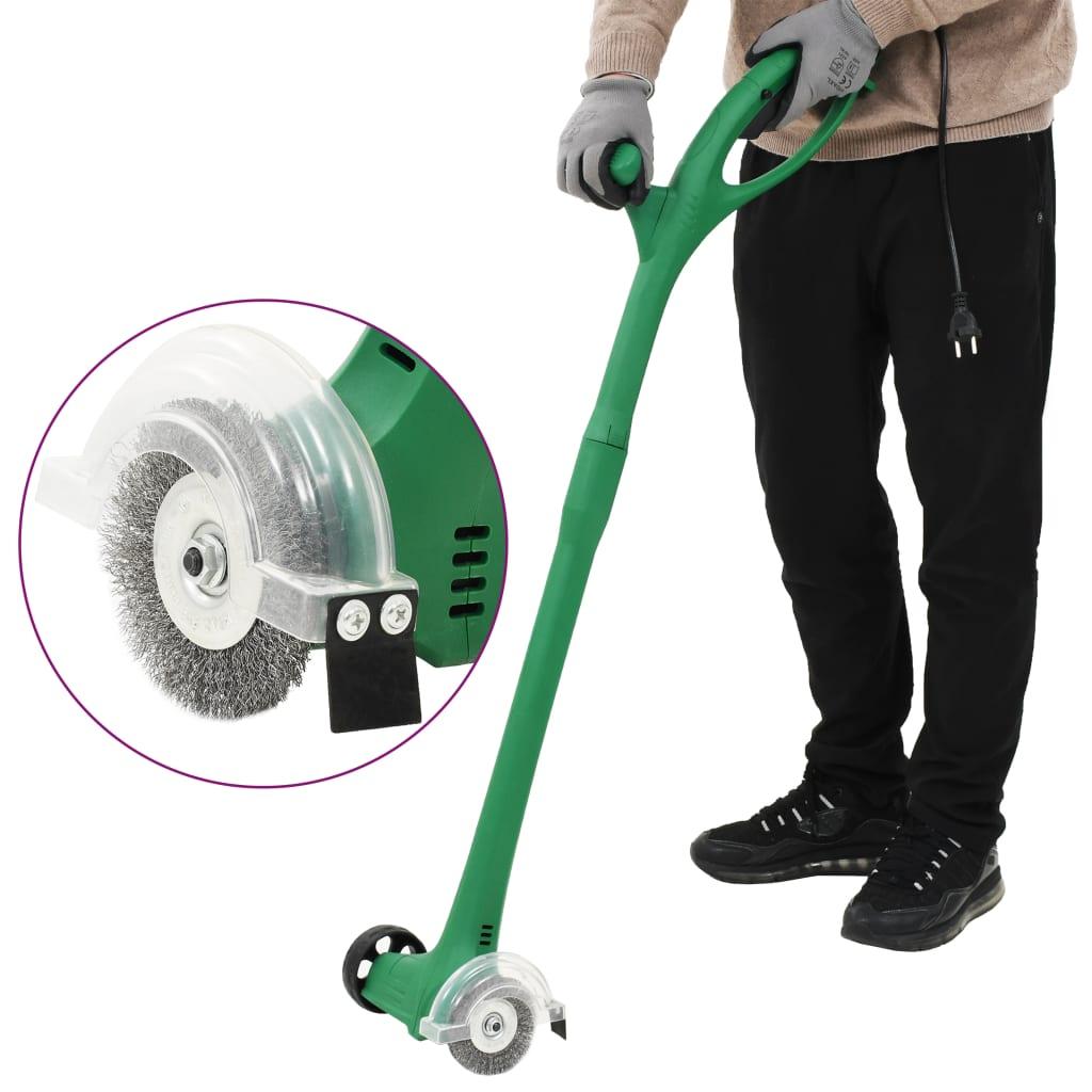 vidaXL Elektrický kartáč na plevel 140 W zelený