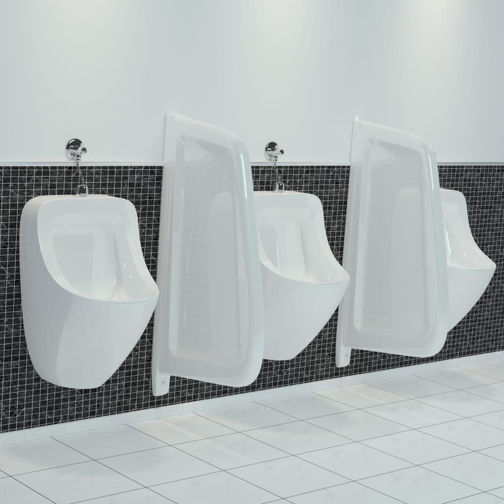 vidaXL Brise-vue pour urinoir mural Céramique Blanc