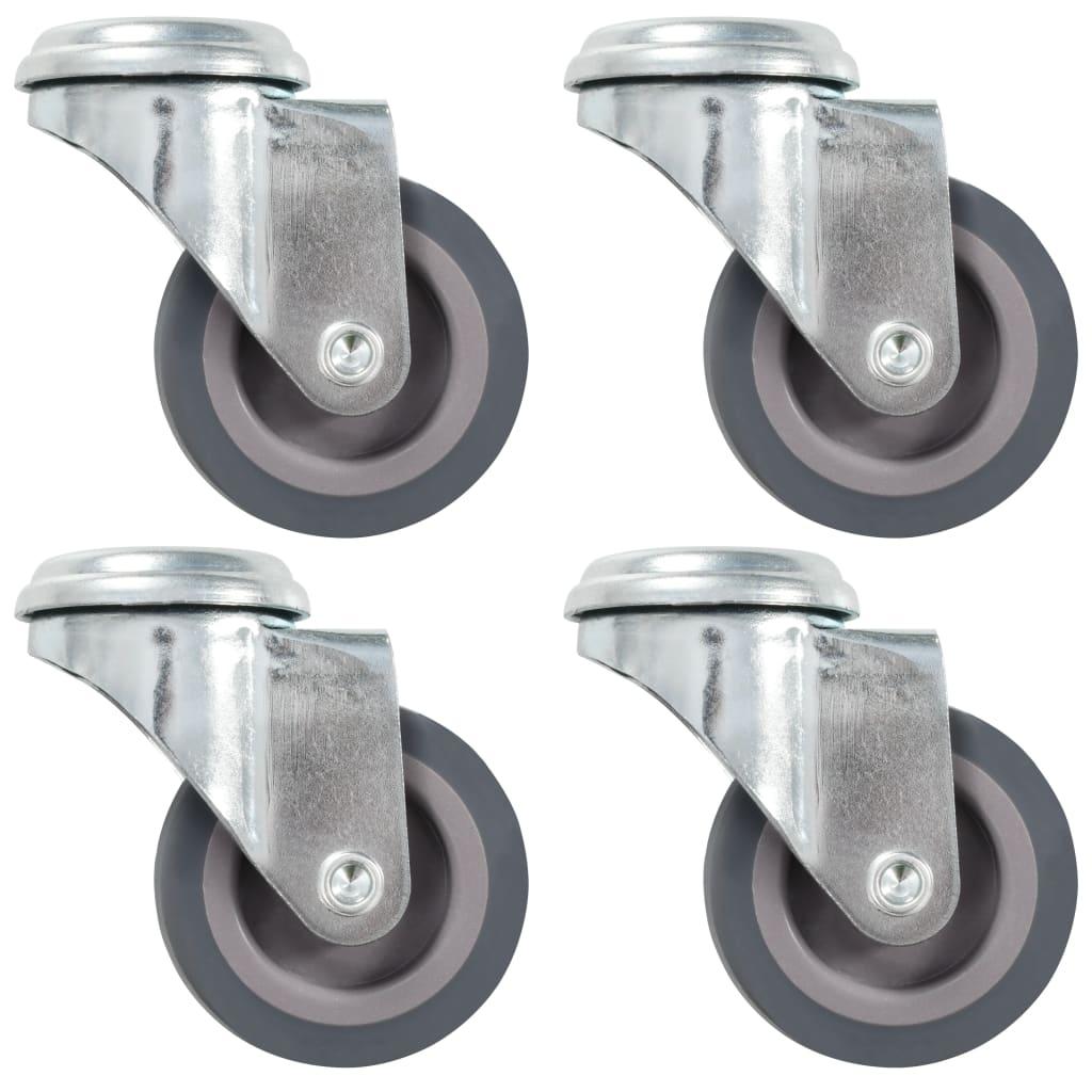vidaXL Otočná kolečka s otvorem pro šroub 4 ks 50 mm