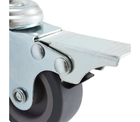 vidaXL 4 pcs Roulettes pivotantes à trou de boulon à double frein 50mm[5/5]