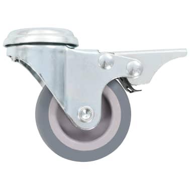 vidaXL 4 pcs Roulettes pivotantes à trou de boulon à double frein 50mm[4/5]