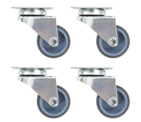 vidaXL Roulettes pivotantes doubles 4 pcs 50 mm
