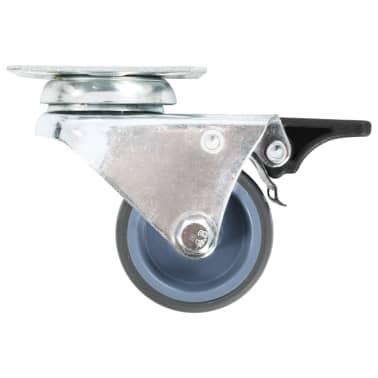 vidaXL drejelige tvillingehjul med dobbelte bremser 4 stk. 50 mm[4/5]