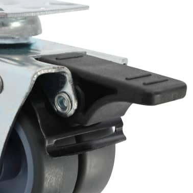 vidaXL drejelige tvillingehjul med dobbelte bremser 4 stk. 50 mm[5/5]