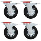 vidaXL Gibljiva kolesa z dvojnimi zavorami 4 kosi 125 mm