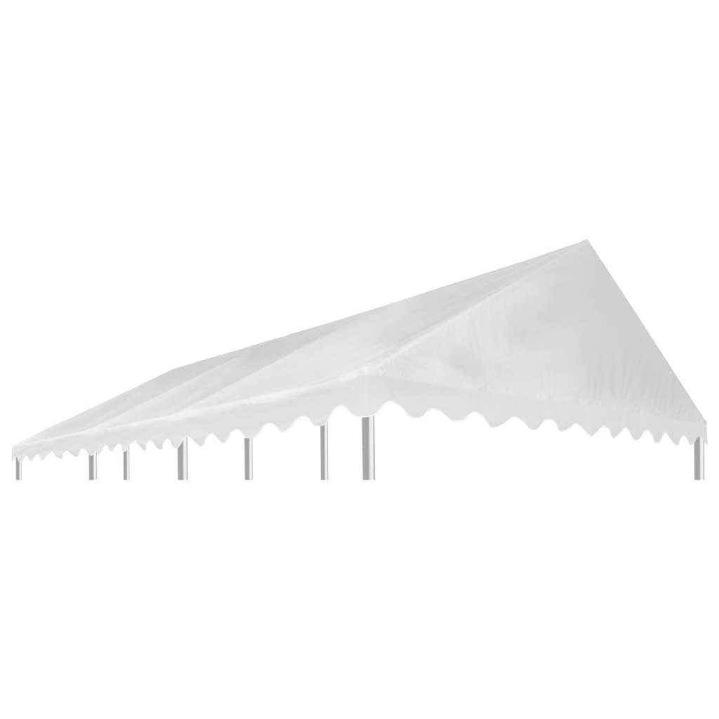 vidaXL Acoperiș pentru pavilion, alb, 6x4 m, PVC, 500 g / m² poza 2021 vidaXL