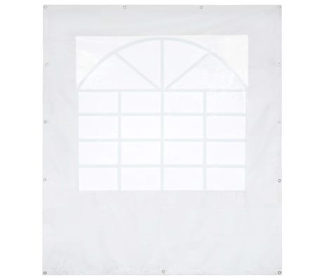 vidaXL Panneau latéral de tente de réception PVC 2x2 m Blanc 550 g/m²[1/5]