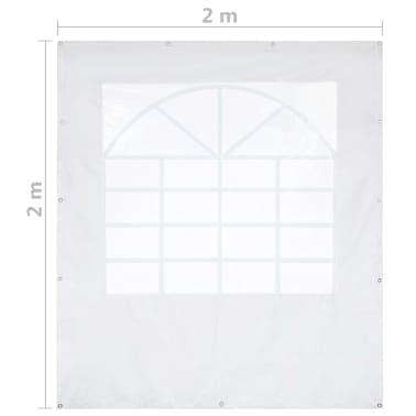vidaXL Panneau latéral de tente de réception PVC 2x2 m Blanc 550 g/m²[5/5]