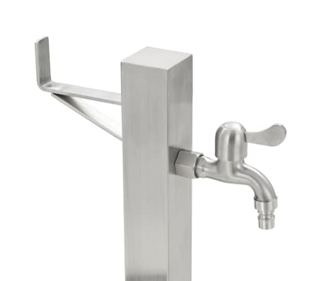 vidaXL Vrtni stup za vodu od nehrđajućeg čelika kvadratni 65 cm[6/8]