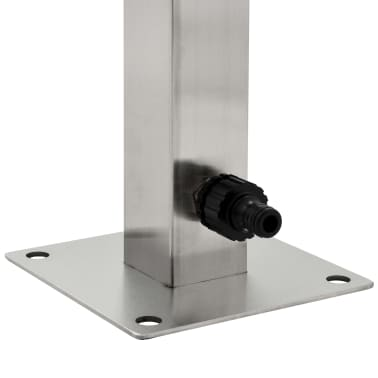 vidaXL Vrtni stup za vodu od nehrđajućeg čelika kvadratni 65 cm[5/8]