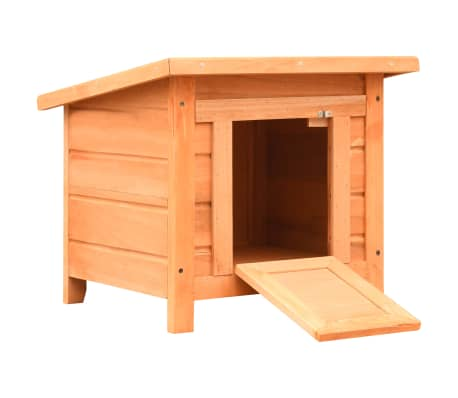 vidaXL Cat House Solid Pine & Fir Wood 50x46x43.5 cm