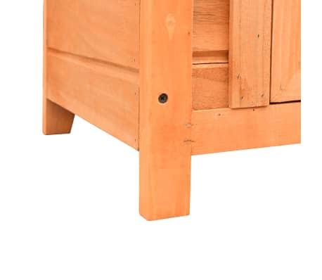 vidaXL Caseta para gatos madera maciza de pino y abeto 50x46x43,5 cm[11/13]