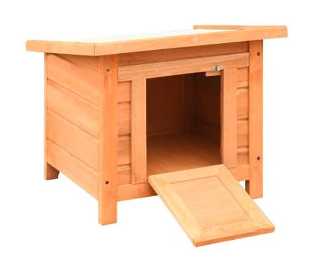 vidaXL Caseta para gatos madera maciza de pino y abeto 50x46x43,5 cm[4/13]