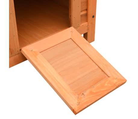 vidaXL Caseta para gatos madera maciza de pino y abeto 50x46x43,5 cm[10/13]