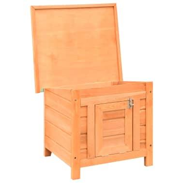 vidaXL Caseta para gatos madera maciza de pino y abeto 50x46x43,5 cm[3/13]