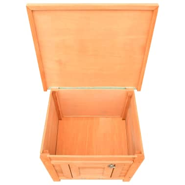 vidaXL Caseta para gatos madera maciza de pino y abeto 50x46x43,5 cm[9/13]