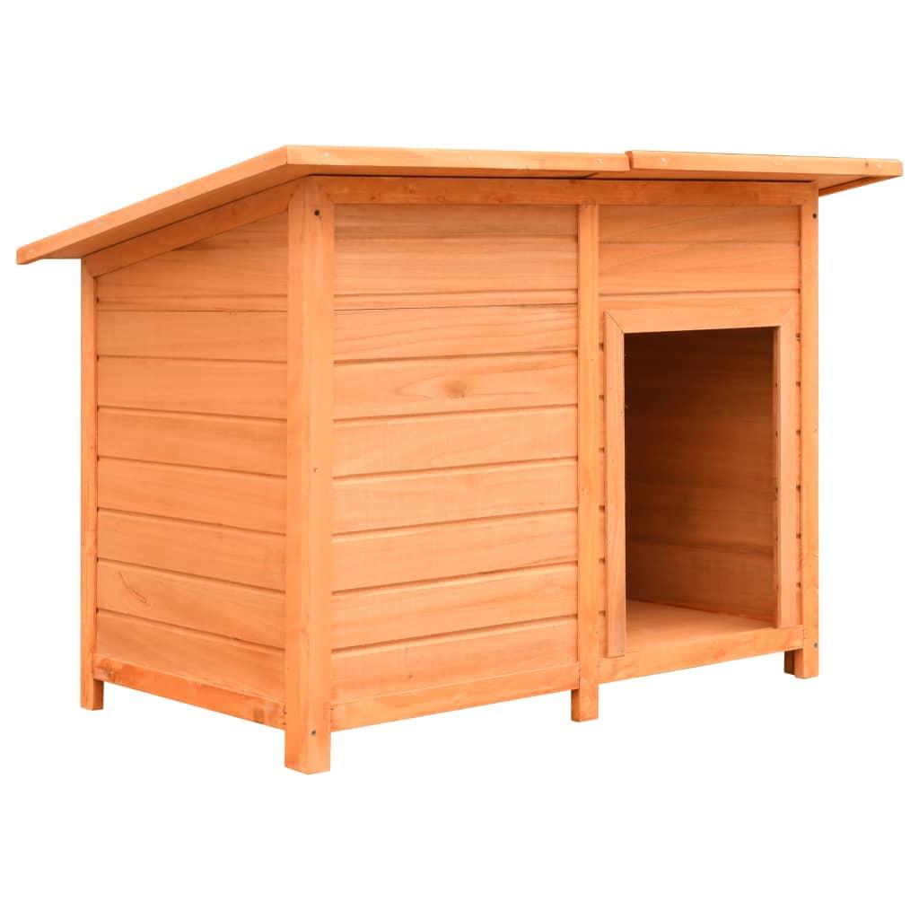 vidaXL Psí bouda 120 x 77 x 86 cm masivní borové a jedlové dřevo