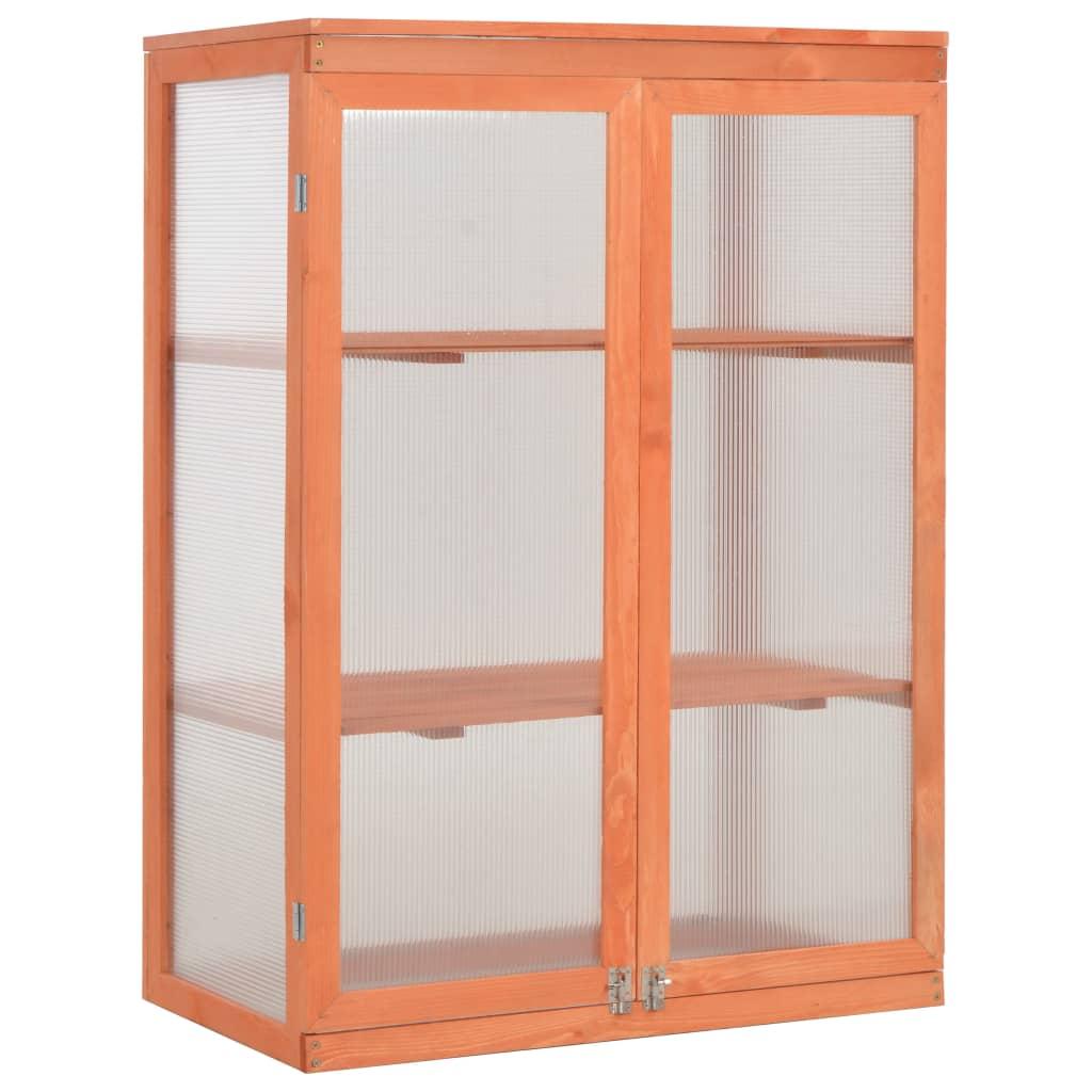Skleník 75 x 47 x 109 cm dřevo