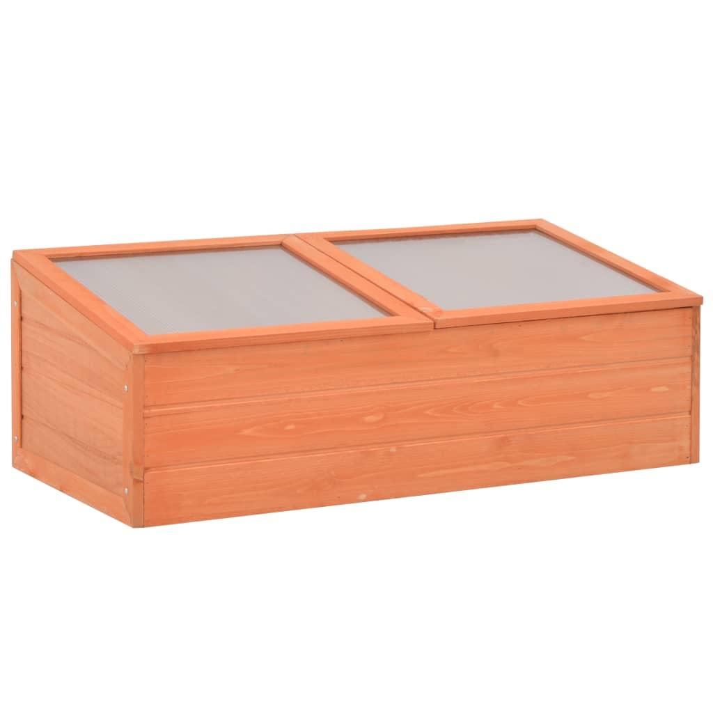 Skleník 100 x 50 x 34 cm dřevo