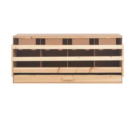 vidaXL Cuibar găini cu 4 compartimente, 106x40x45 cm, lemn masiv pin[5/9]