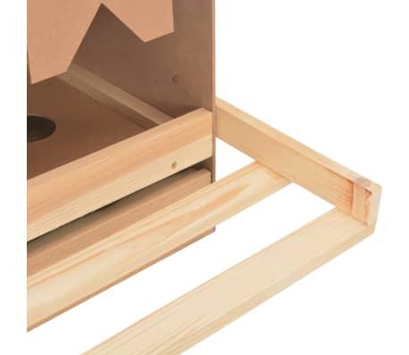 vidaXL Cuibar găini cu 4 compartimente, 106x40x45 cm, lemn masiv pin[9/9]