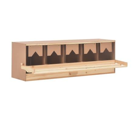 vidaXL Ponedero para gallinas 5 compartimentos madera pino 117x33x38cm