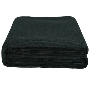 vidaXL Alfombra de tienda de compaña HDPE verde 250x400 cm