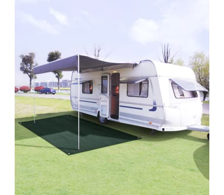 vidaXL Tent Carpet 250x600 cm HDPE Green[1/7]