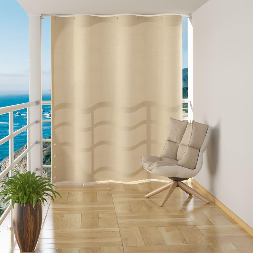 vidaXL Závěsná balkonová zástěna krémová HDPE 140 x 230 cm