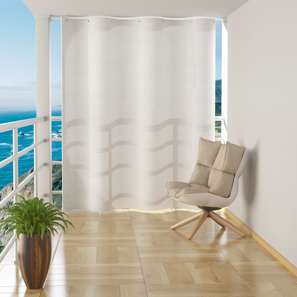 vidaXL Závěsná balkonová zástěna bílá HDPE 140 x 230 cm
