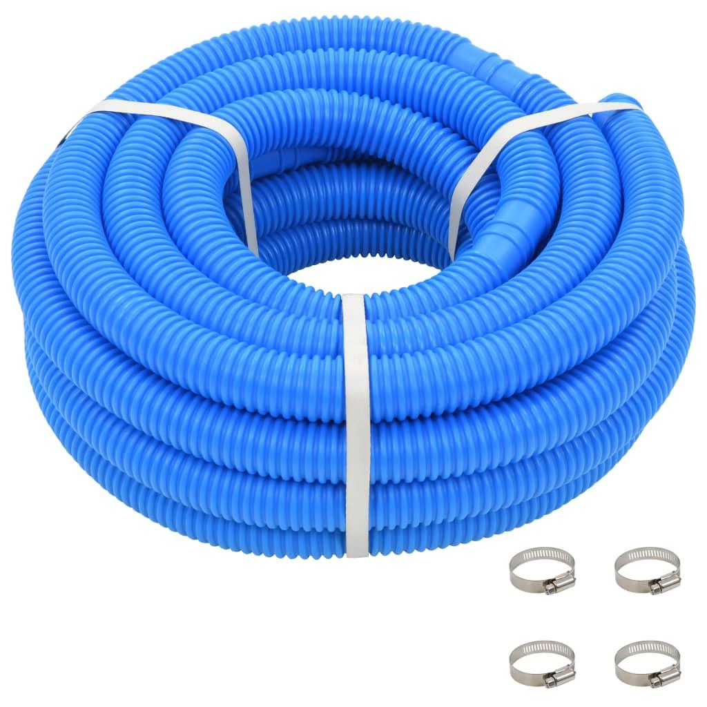 Bazénová hadice se svorkami modrá 38 mm 12 m