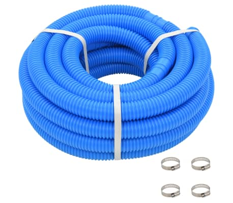 "vidaXL Pool Hose with Clamps Blue 1.4"" 39.3'"