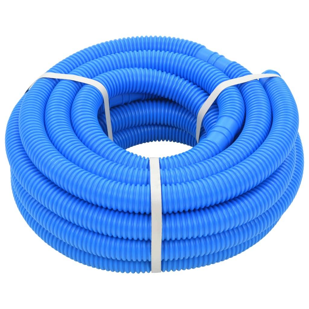 vidaXL Furtun de piscină, albastru, 32 mm, 12,1 m poza vidaxl.ro