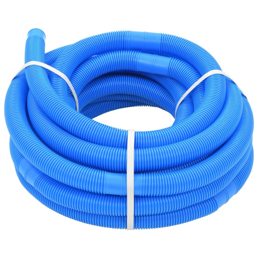 vidaXL Furtun de piscină, albastru, 32 mm, 15,4 m poza vidaxl.ro