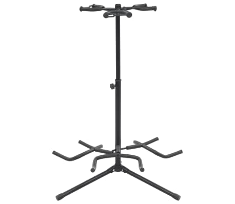 vidaXL Guitar Stand Black Steel