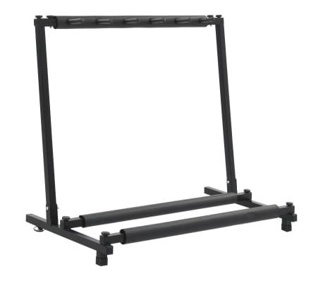 vidaXL Gitarstativ svart stål