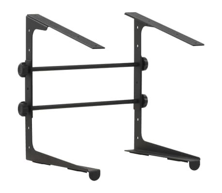 vidaXL laptopstativ 30,5 x 28 x (24,5-37,5) cm sort stål