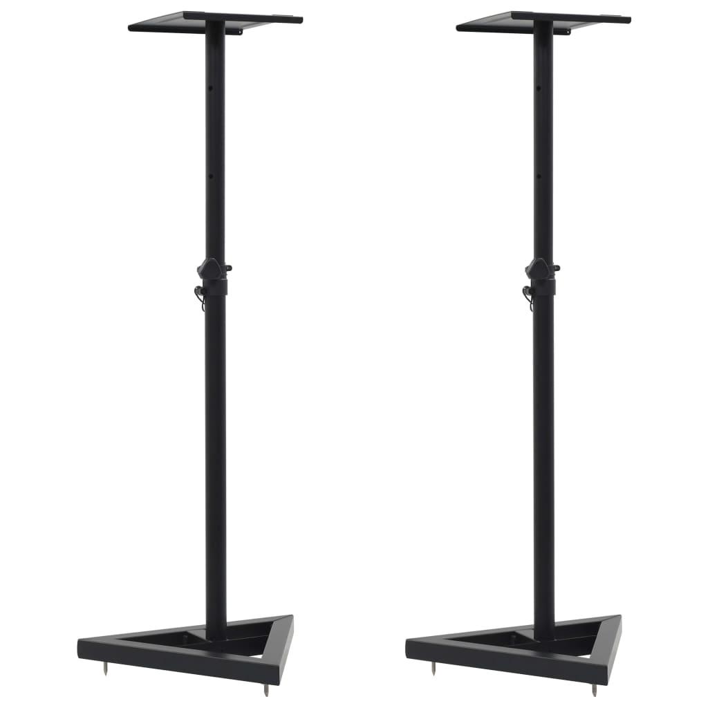 vidaXL Stojany pro studiové monitory nebo reproduktory 2 ks černé ocel