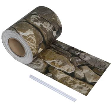 vidaXL PVC Fence Strip Roll 70x0.19 m Stone[1/4]