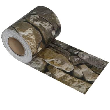 vidaXL Rouleau de bande de clôture PVC 70x0,19 m Pierre[2/4]