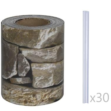 vidaXL PVC Fence Strip Roll 70x0.19 m Stone[3/4]