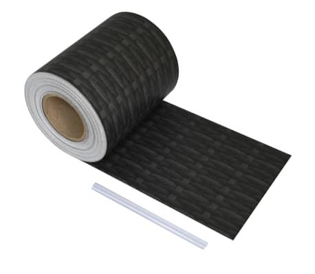 vidaXL Schuttingstrook rattanontwerp 70x0,19 m PVC[1/4]